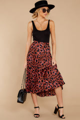 8 Must Have It Pink Multi Leopard Print Midi Skirt at reddressboutique.com