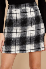 1 As If White And Black Plaid Skirt at reddressboutique.com
