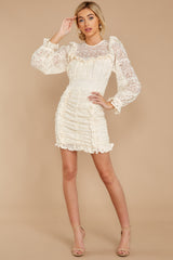 2 Talk About Love Cream Lace Dress at reddress.com