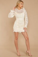 5 Talk About Love Cream Lace Dress at reddress.com