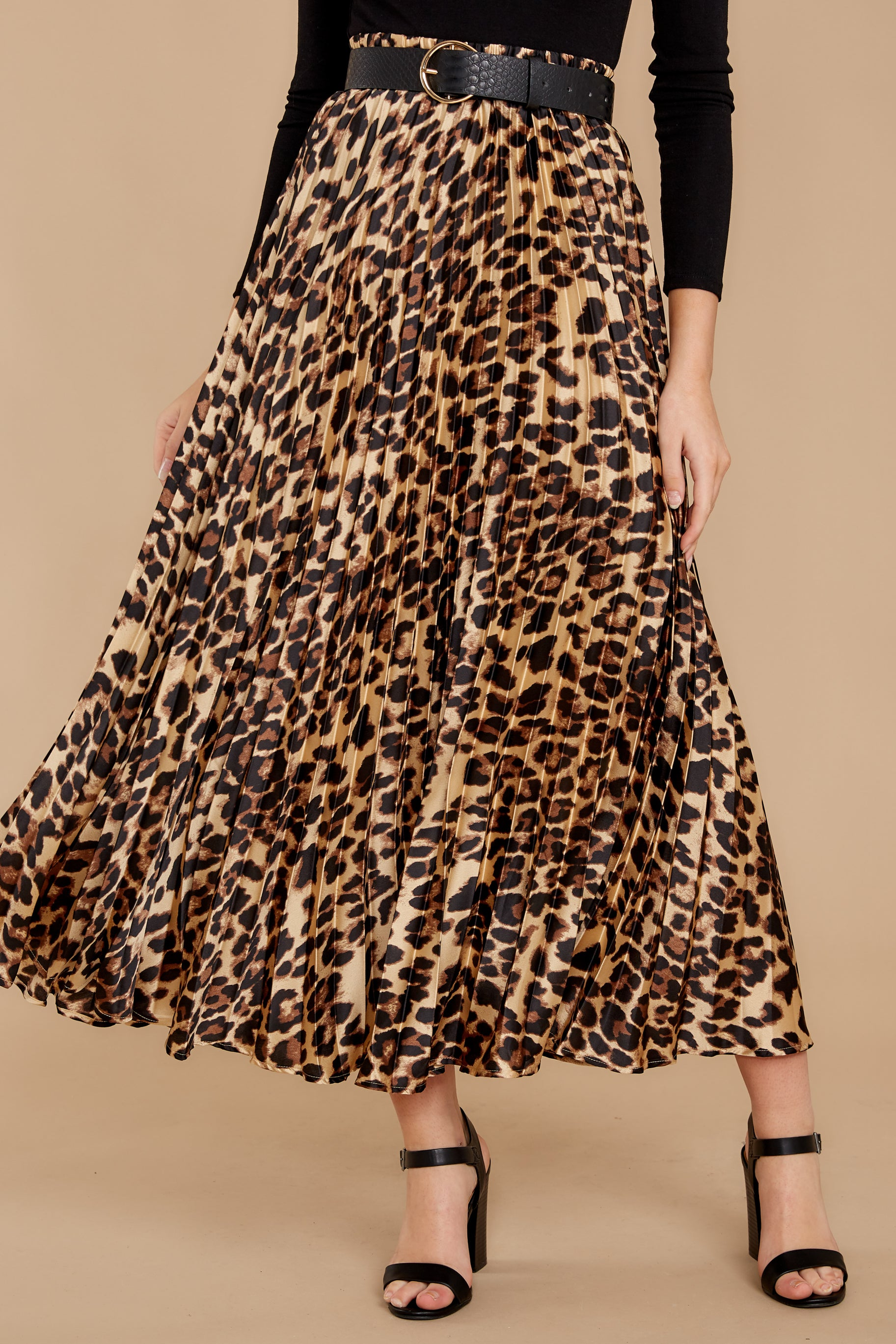 Rule Breaker Leopard Print Midi Skirt