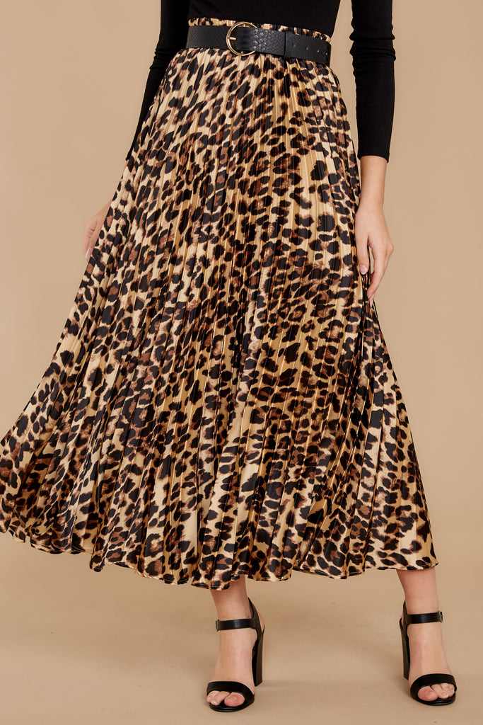 1 In Her Nature Tan Cheetah Print Skirt at reddressboutique.com