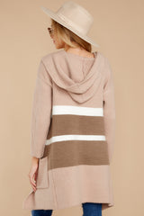 Falling For Adventure Blush Multi Stripe Cardigan