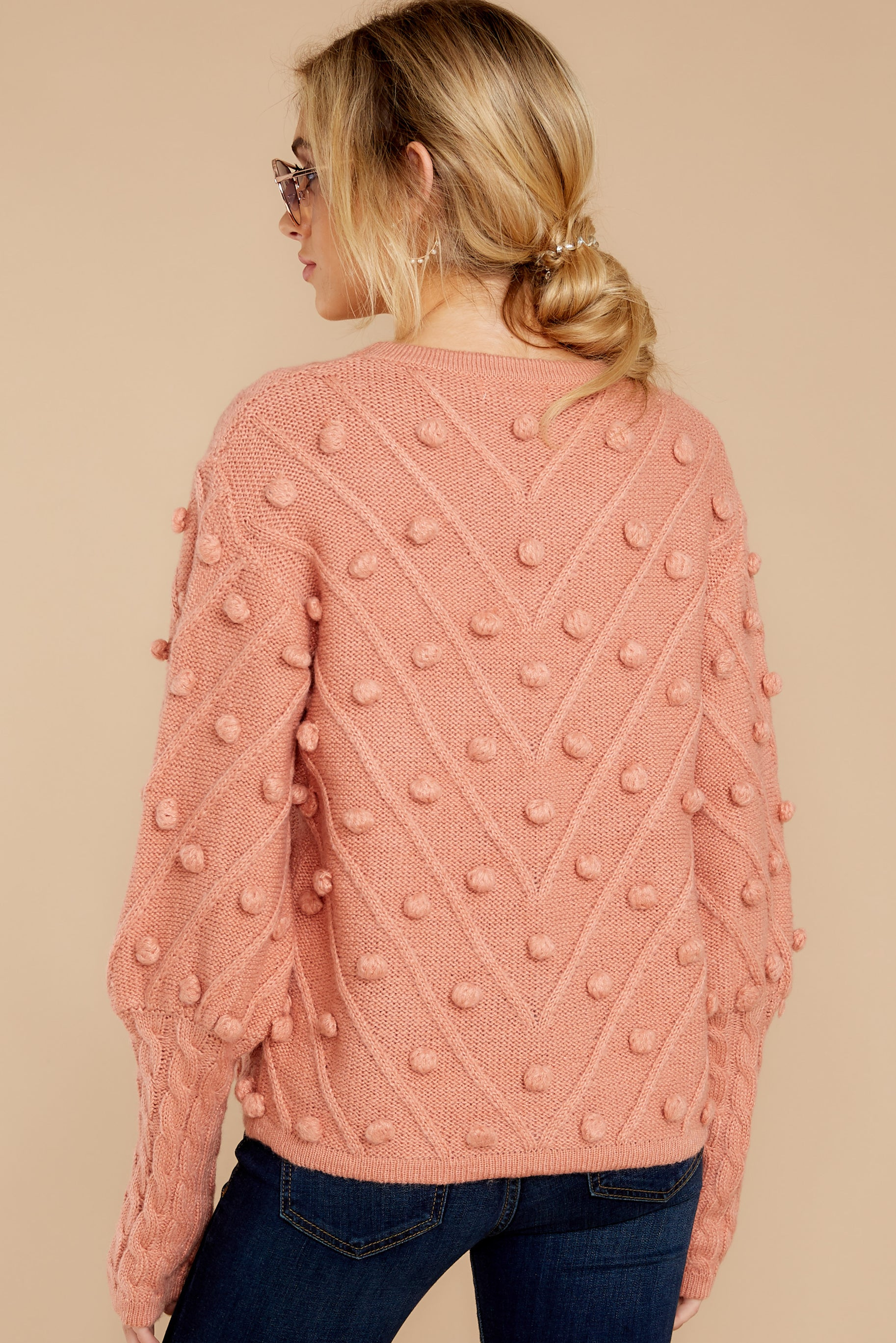 8 Having A Ball Dusty Rose Sweater at reddress.com