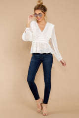 Sweet Muse Ivory Lace Top