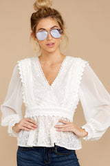5 Sweet Muse Ivory Lace Top at reddressboutique.com