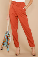 1 Into The Office Coral Orange Pants at reddressboutique.com