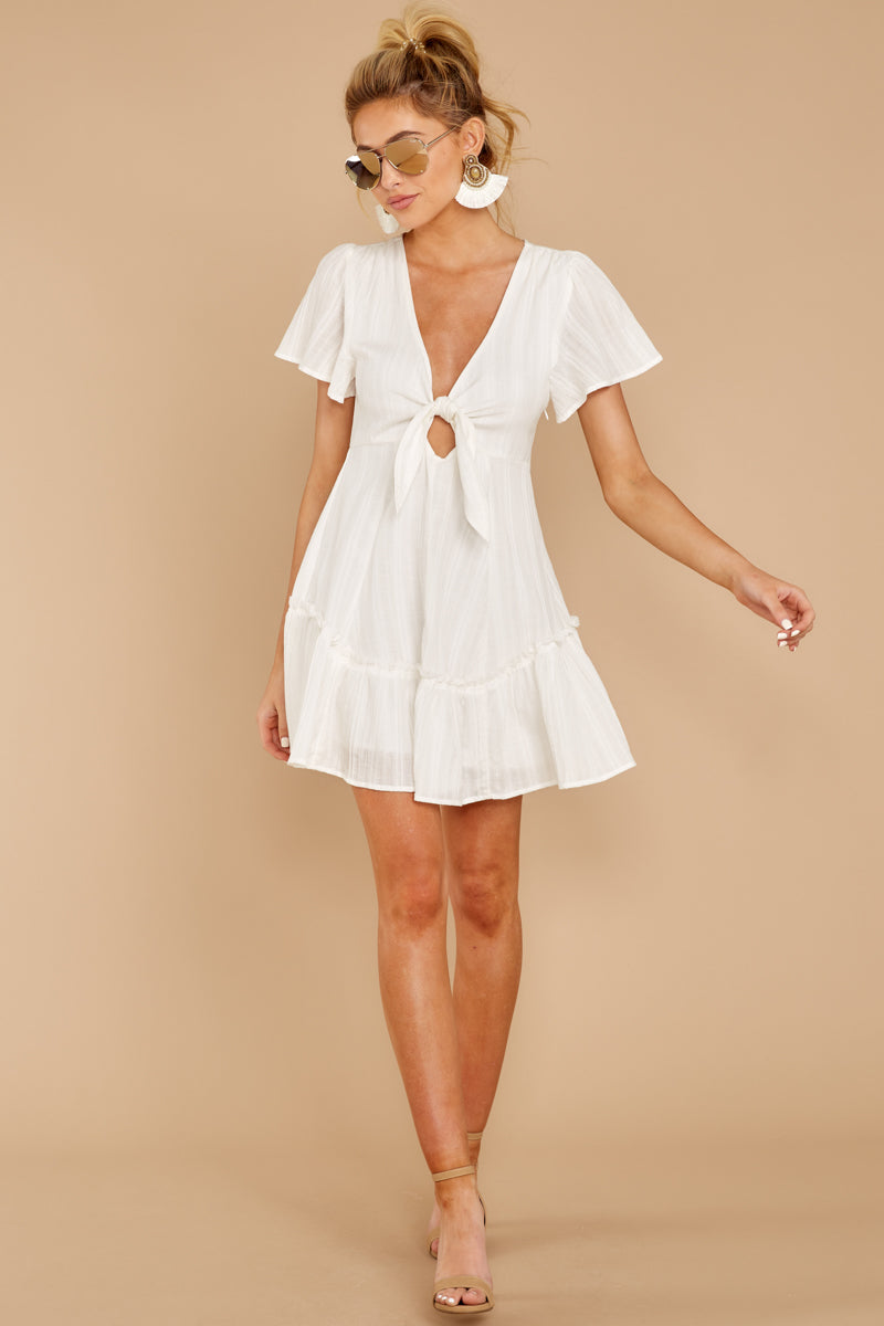 2 Don't Mess Around White Dress at reddressboutique.com