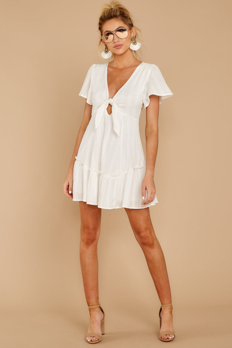 3 Don't Mess Around White Dress at reddressboutique.com