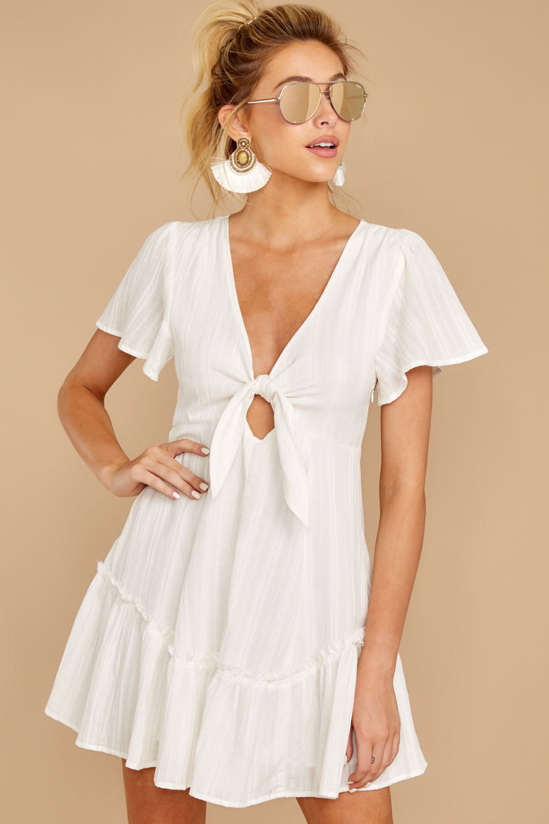 4 Don't Mess Around White Dress at reddressboutique.com