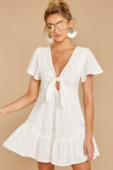 5 Don't Mess Around White Dress at reddressboutique.com