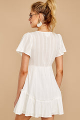 6 Don't Mess Around White Dress at reddressboutique.com