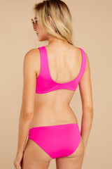 7 Ocean Ties Neon Pink Bikini Top at reddressboutique.com