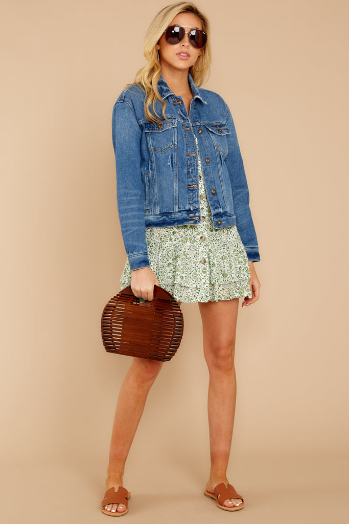 9 It's Gotta Be Done Medium Wash Denim Jacket at reddressboutique.com