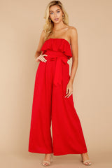 2 Choose Your Destiny Red Jumpsuit at reddressboutique.com