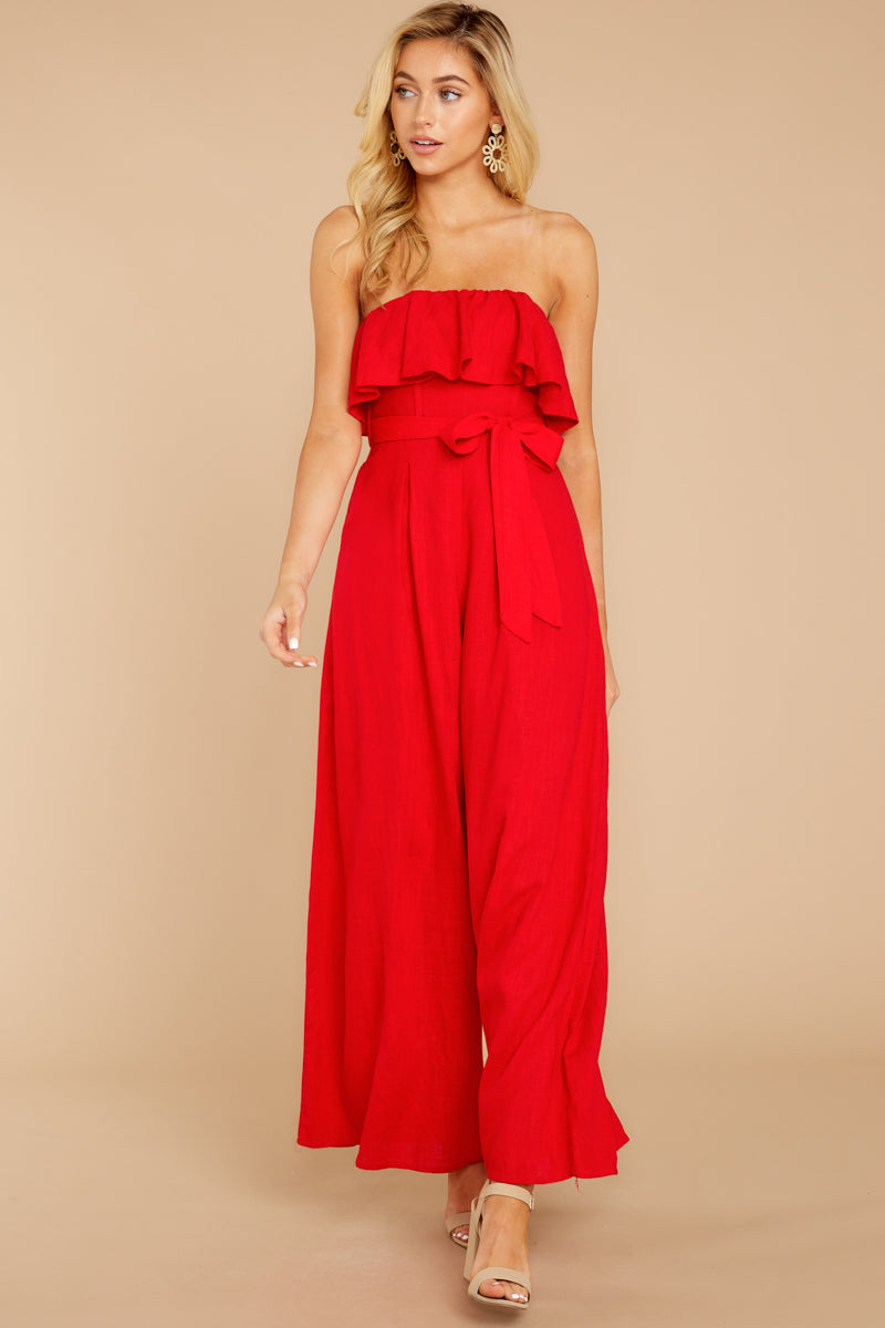 3 Choose Your Destiny Red Jumpsuit at reddressboutique.com