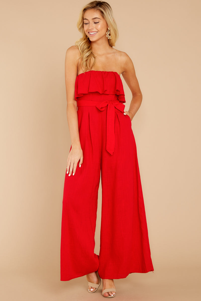 4 Choose Your Destiny Red Jumpsuit at reddressboutique.com