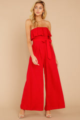 5 Choose Your Destiny Red Jumpsuit at reddressboutique.com