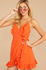 4 Waking Momentum Tangerine Orange Dress at reddressboutique.com