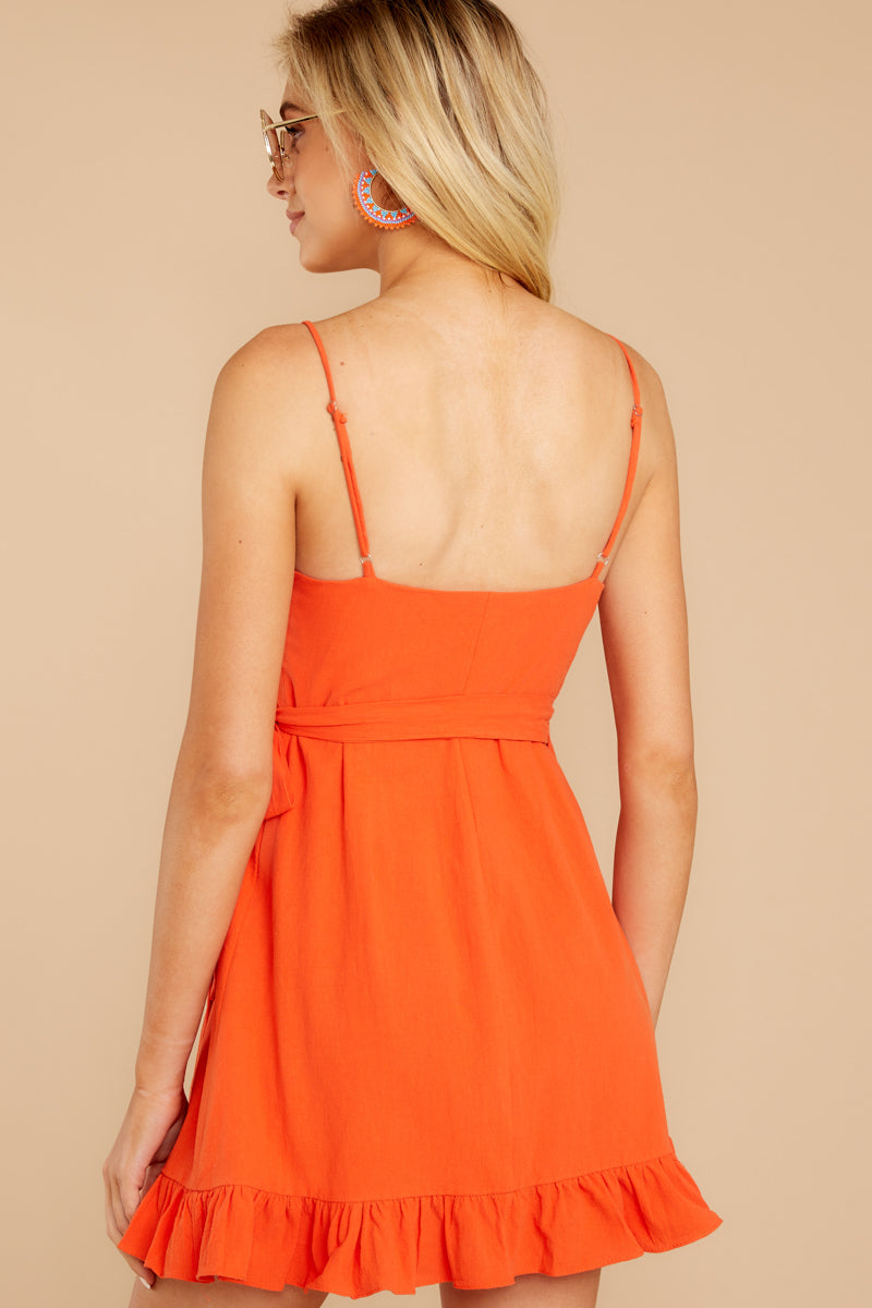 7 Waking Momentum Tangerine Orange Dress at reddressboutique.com