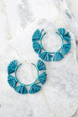2 How About It Turquoise Earrings at reddressboutique.com