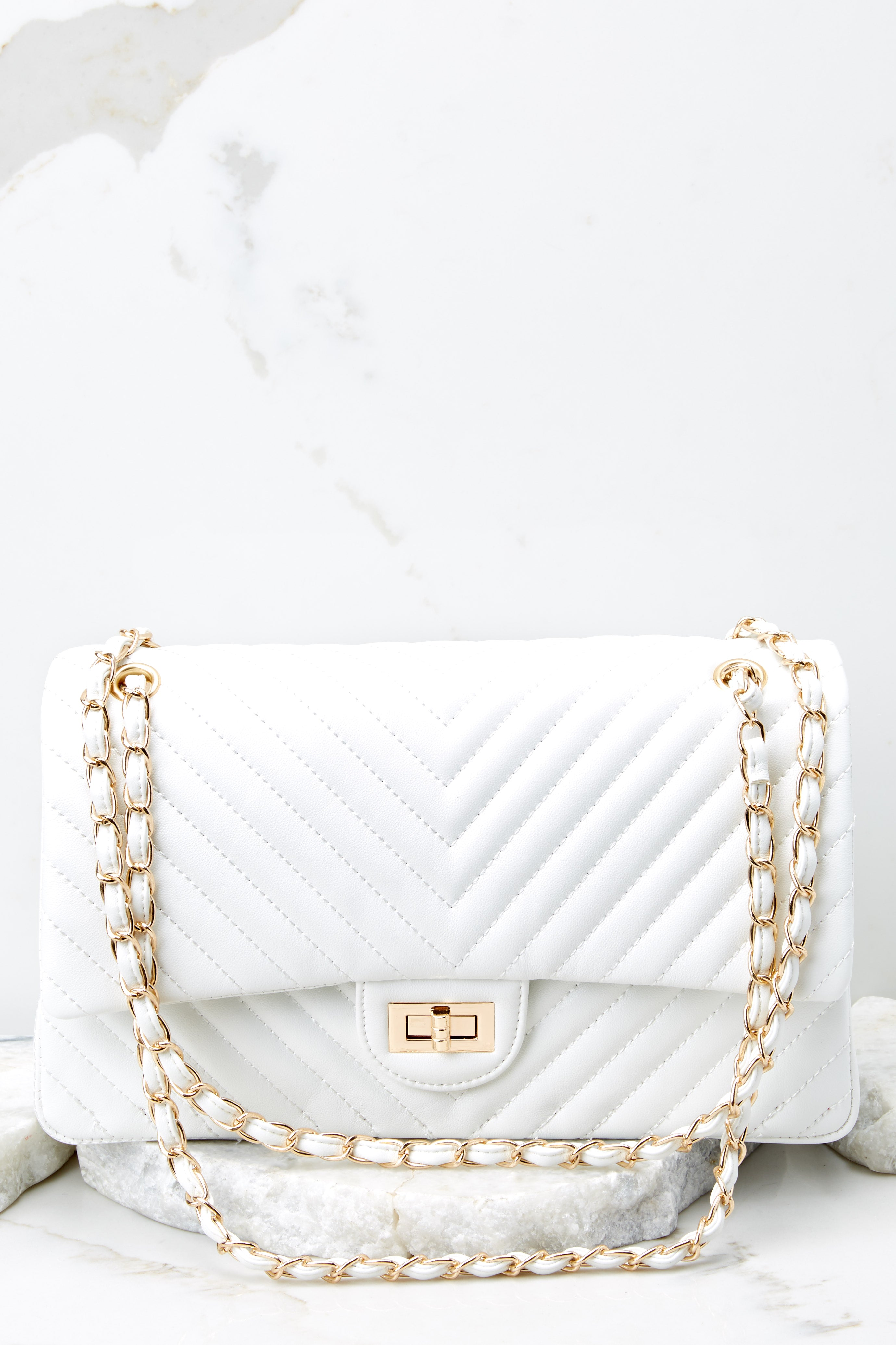 3 Polished And Poised White Bag at reddress.com