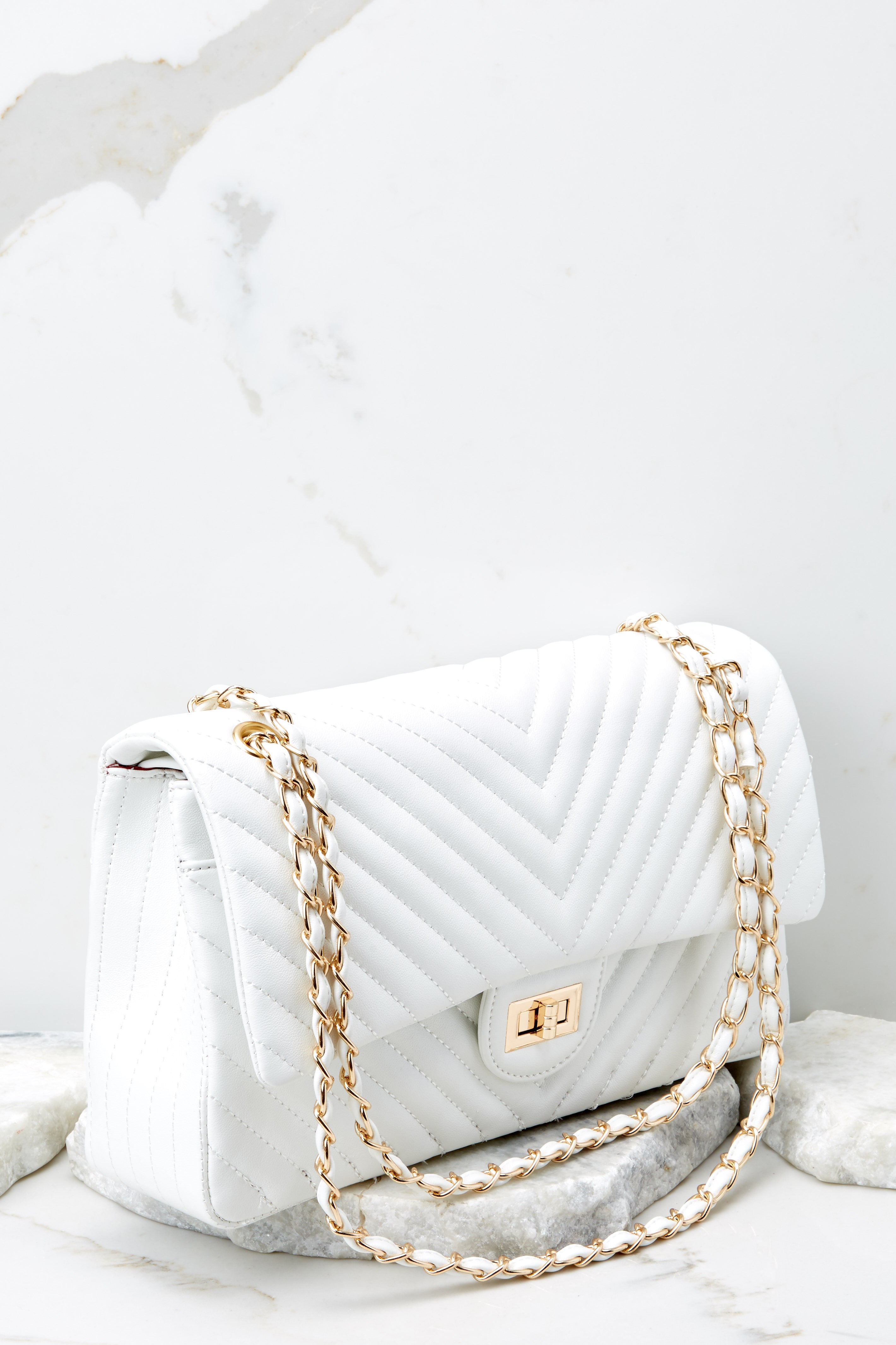 5 Polished And Poised White Bag at reddress.com