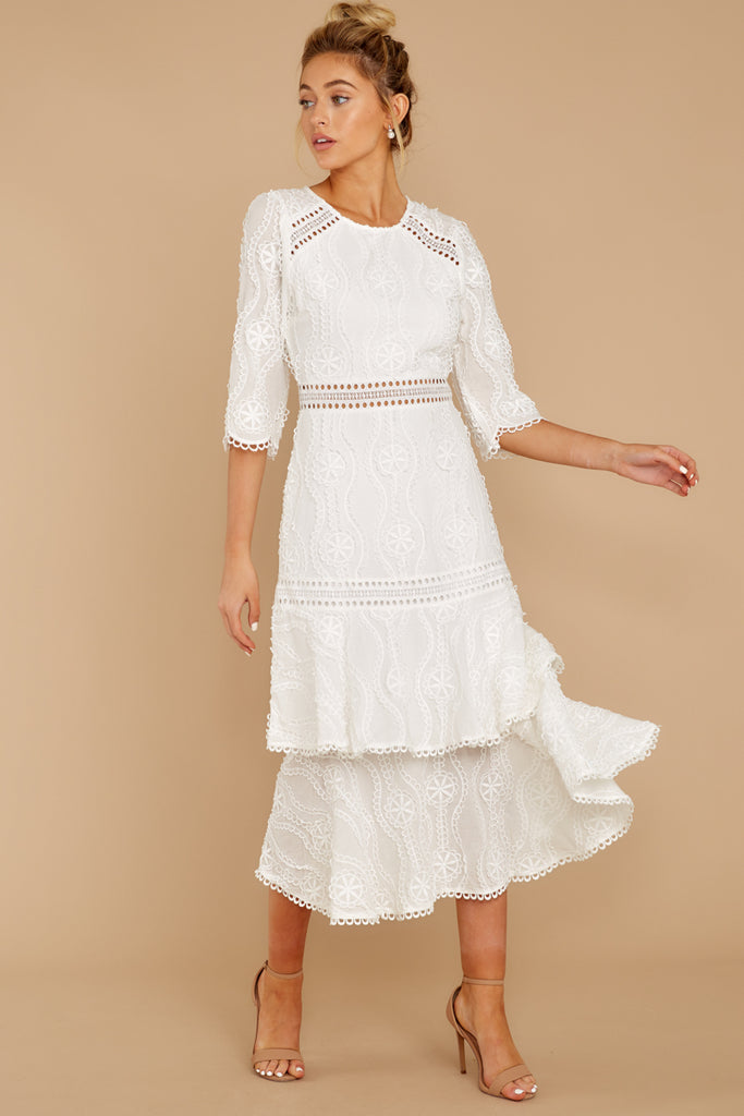 1 Ladies Luncheon White Maxi Dress at reddressboutique.com