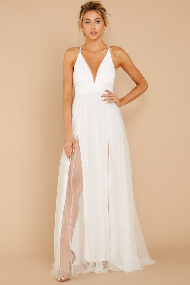 3 Matters Of The Heart White Maxi Dress at reddressboutique.com