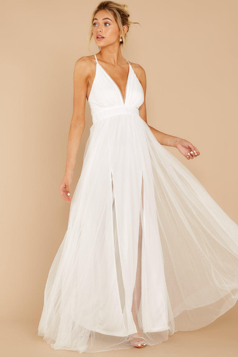 4 Matters Of The Heart White Maxi Dress at reddressboutique.com