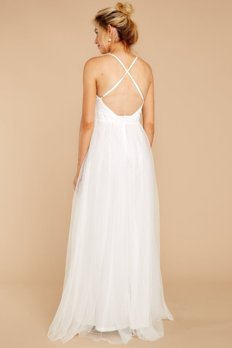 5 Matters Of The Heart White Maxi Dress at reddressboutique.com