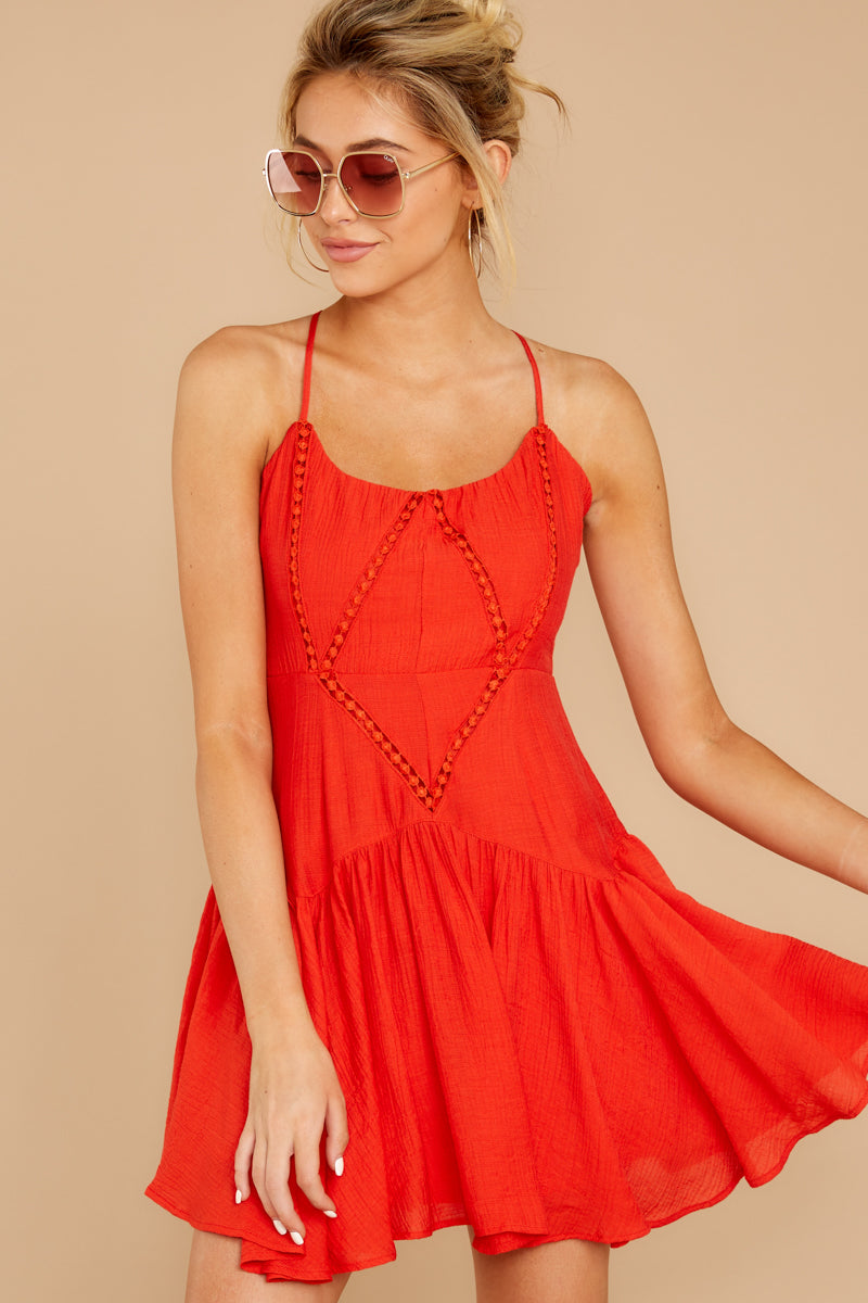 From A Song Tomato Red Dress