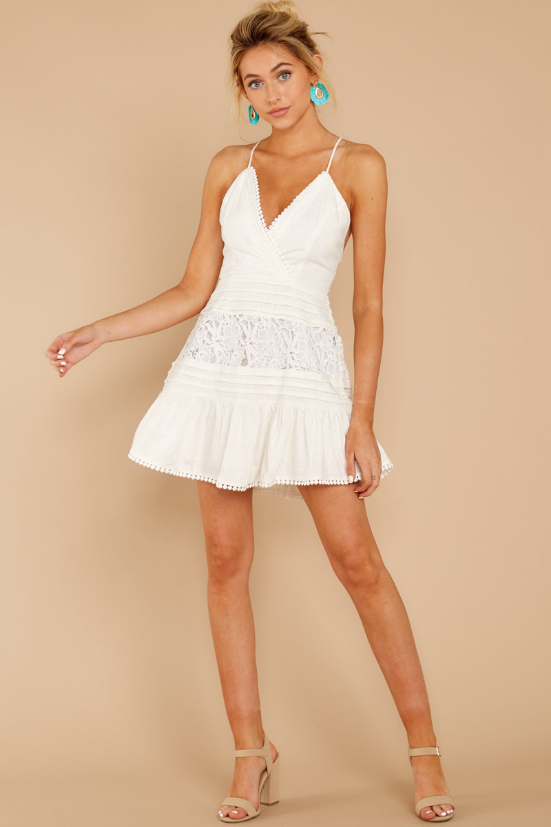 3 Vivid Moment White Lace Dress at reddressboutique.com