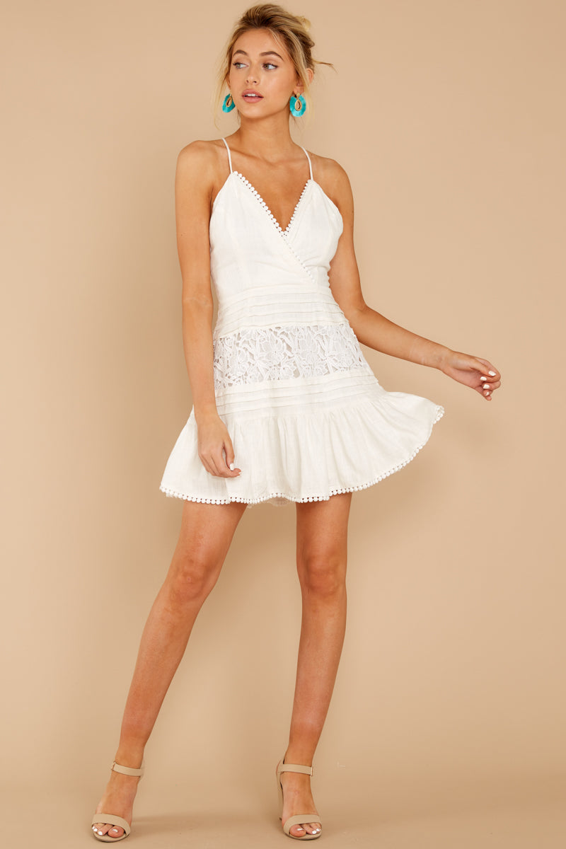 2 Vivid Moment White Lace Dress at reddressboutique.com