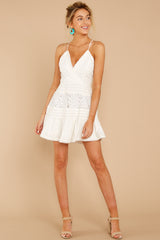 4 Vivid Moment White Lace Dress at reddressboutique.com