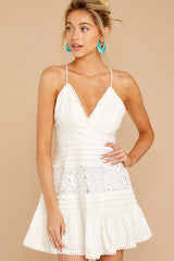 5 Vivid Moment White Lace Dress at reddressboutique.com
