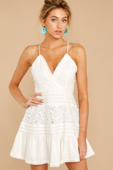 1 Vivid Moment White Lace Dress at reddressboutique.com