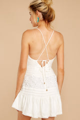 7 Vivid Moment White Lace Dress at reddressboutique.com