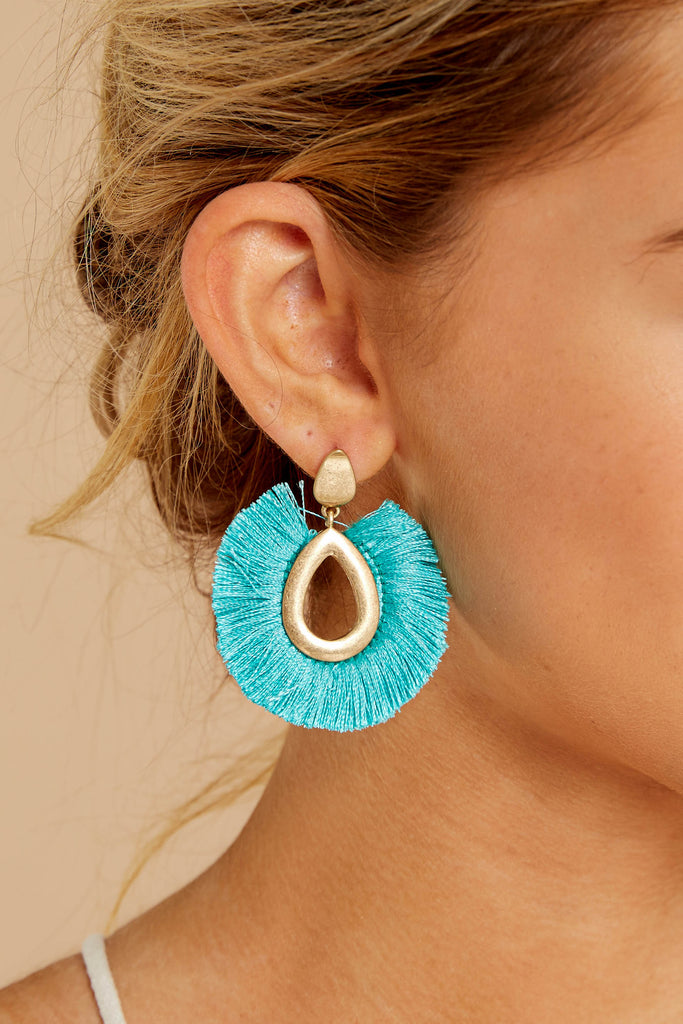 Circumference of Style Turquoise Beaded Earrings