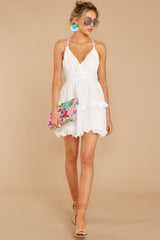 2 Miss You Already White Dress at reddressboutique.com