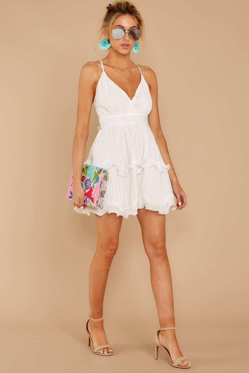 1 Miss You Already White Dress at reddressboutique.com