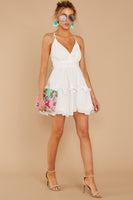 V-neck Polyester Tie Waist Waistline Short Tiered Hidden Back Zipper Belted Plunging Neck Dress With a Sash and Ruffles