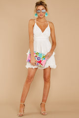 3 Miss You Already White Dress at reddressboutique.com