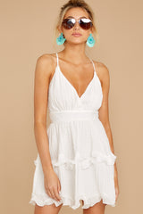 4 Miss You Already White Dress at reddressboutique.com