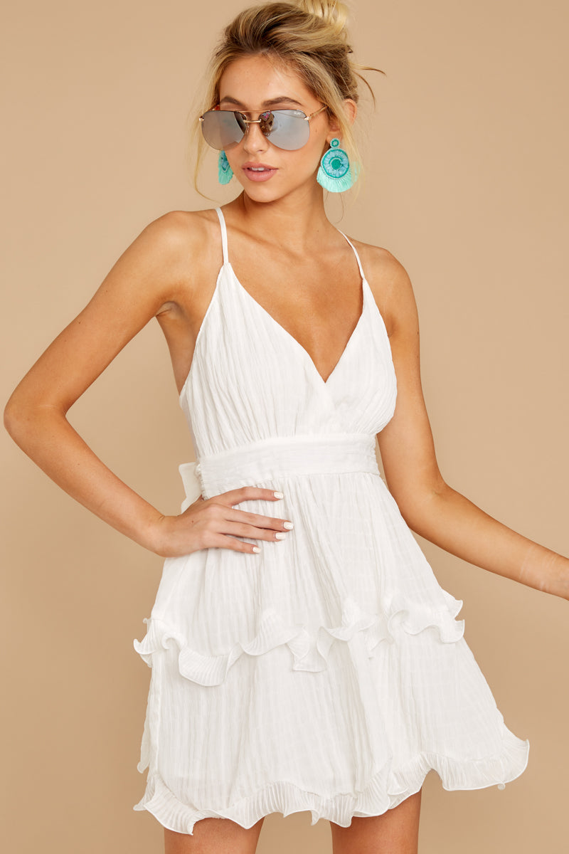 5 Miss You Already White Dress at reddressboutique.com