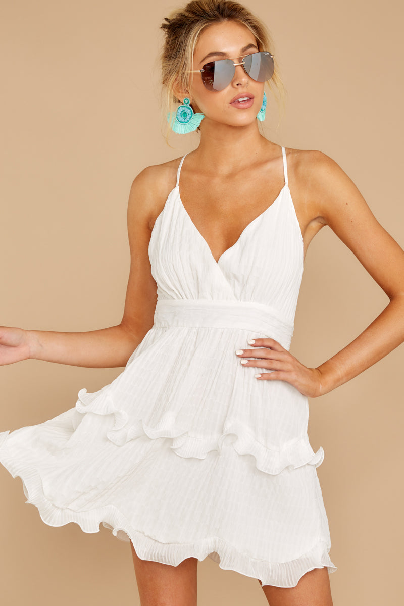 1 Miss You Already White Dress at reddress.com