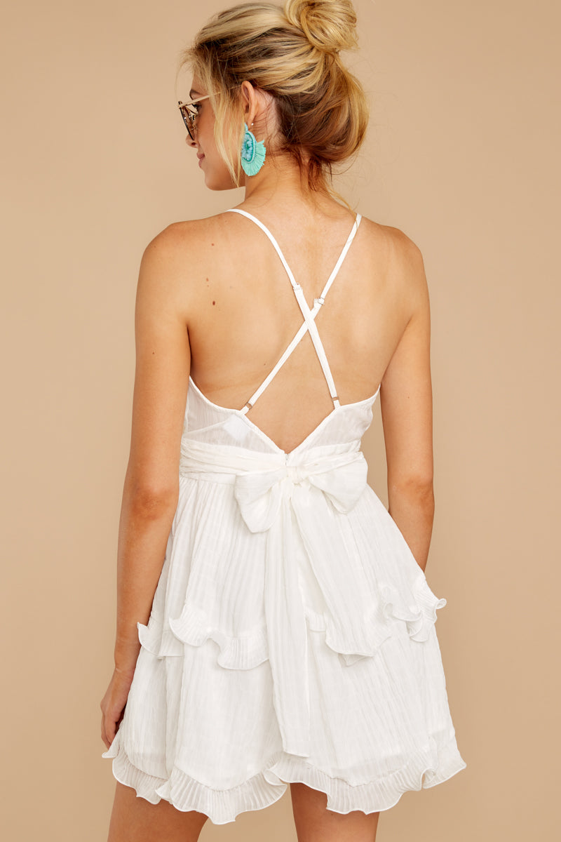 7 Miss You Already White Dress at reddress.com