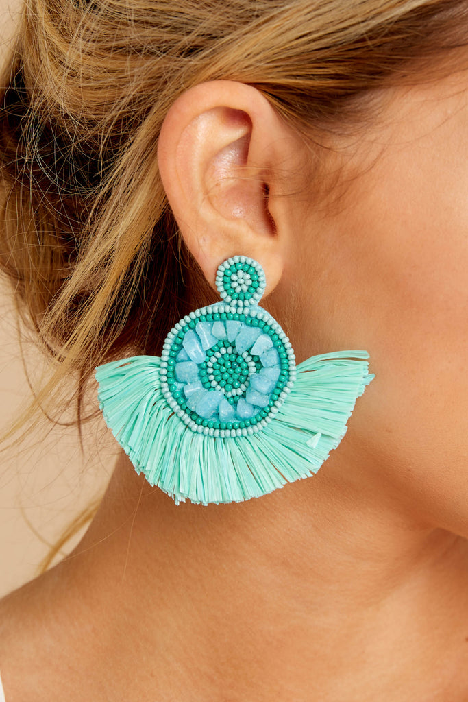 Sing Out Loud Turquoise Statement Earrings