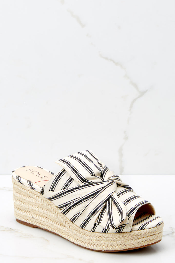 6 White Noor Wedges at reddressboutique.com