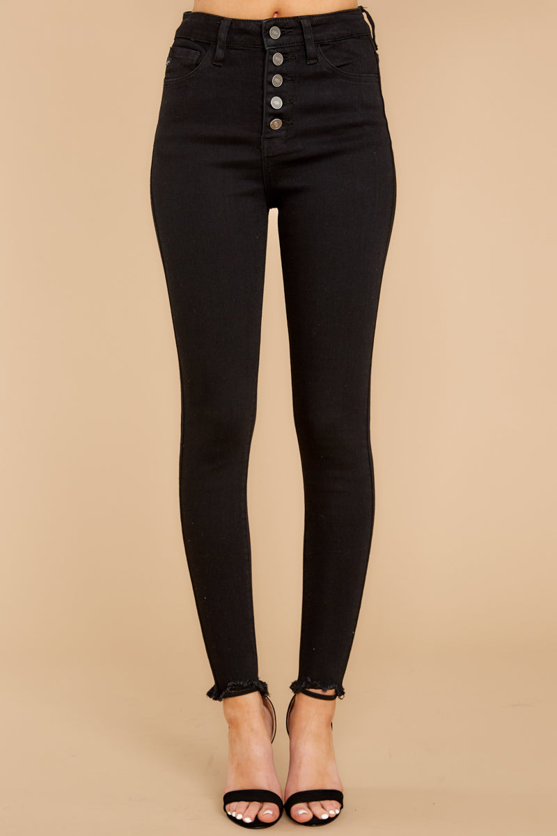 2 Advanced Basics Black Skinny Jeans at reddress.com